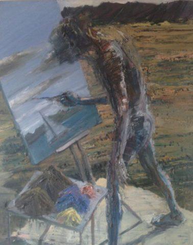 Painting Flinders (to left)