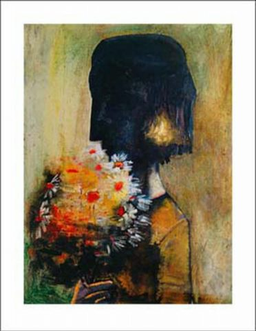 Girl with yellow bouquet 1959