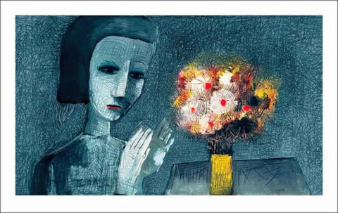 Girl with Flowers 1960