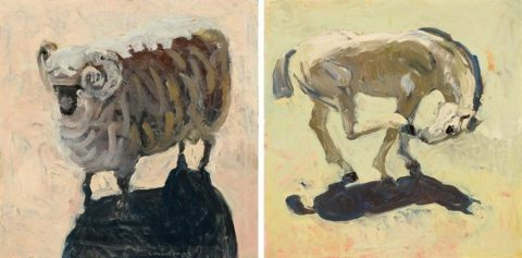 Ram and Horse Diptych