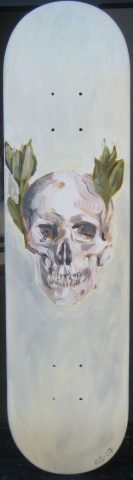 Skull and Bay Leaves
