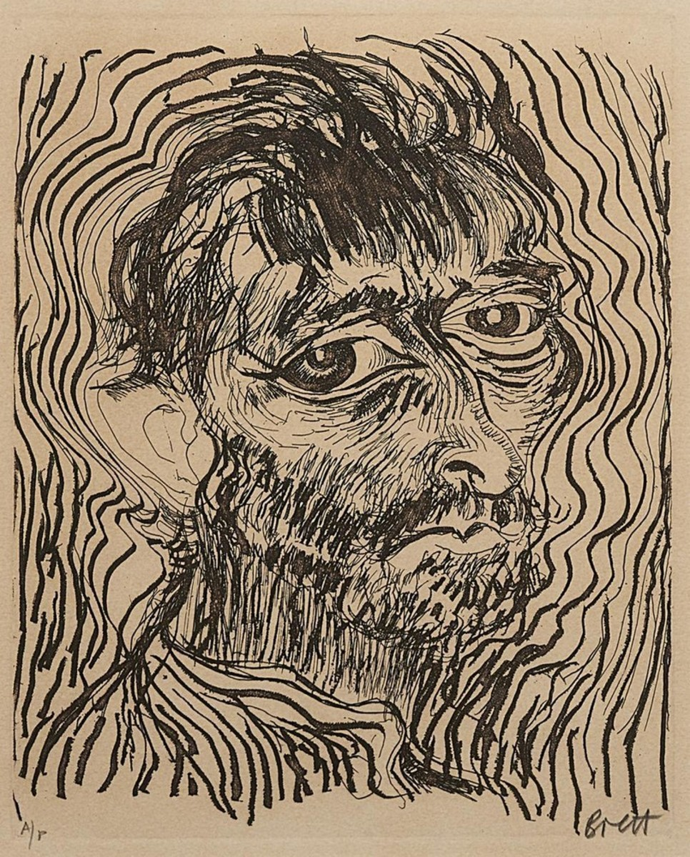 Another Way of Looking at Vincent Van Gogh 1888-1889, Self Portrait One of A Dozen Glimpses, 1983 (Suite of 3)