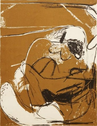 Figures on Ochre Background, 1961