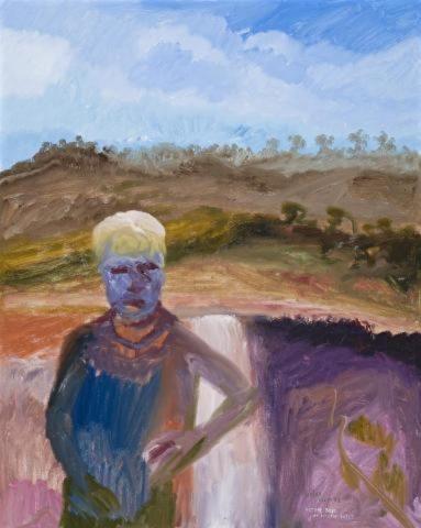 Arthur Boyd at Fitzroy Falls, 1988