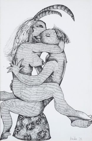 Lovers – Erotic Drawing, 1973